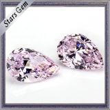 Luz quente da forma da pera da venda - Zirconia cúbico cor-de-rosa para a jóia da forma