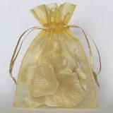 Tamanho OEM Organza Dom Promocionais Bag Cor de Ouro