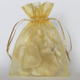Soem-Größen-Organza-fördernde Geschenk-Beutel-Goldfarbe