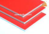 Materiale composito di alluminio esterno del segno di Feve del poliestere del rivestimento del PE