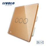 Переключатель Vl-C303sr-61/62/63 дороги шатии 3 Livolo 3 двухсторонний дистанционный