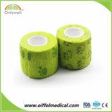 Ce/FDA/ISO het Afgedrukte Verband van de Omslag van de Dierenarts Zelfklevende Elastische Samenhangende