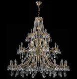 Luzes de cristal do candelabro luxuoso do hotel do projeto (1771-20+10+5 B GB)