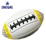 A fábrica 4 Pilar Promoção barata de alta qualidade da formação do bebê Bola de Rugby de couro personalizada