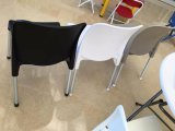 Aluminio negro - Silla de comedor de plástico