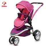uma variedade de cores do carro de bebê de três rodas