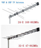 De openlucht Digitale Antenne 47-862MHz van TV met Hoge Aanwinst door de Leverancier van de Folder van China