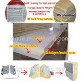 Armazenamento de PU PPGI sala fria para carne/peixes/frutas/legumes com material retardante de fogo