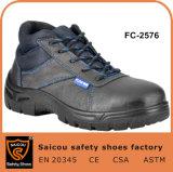 Chaussures de sécurité de la vente chaude Hommes chaussures d'injection de PU et agent de police de chaussures SC-2576