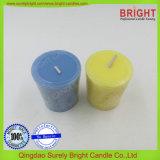 Votive Kerze Milke Farbe mit Schneeflocke-Effekt (V-003)