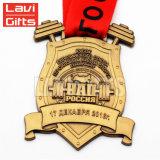 Medaille van uitstekende kwaliteit van de Sport Weightlifting van de Legering van het Zink van de Douane de Antieke Gouden