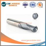 Flûte de carbure de tungstène 2 Ballnose HRC45-60 fin Mill