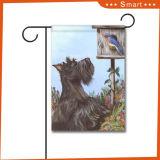 Preiswerter nach Maß Hund auf der Zaun-Garten-Dekor-Markierungsfahne