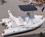 Vente gonflable de touristes de bateau de famille de bateau de côte de Liya Chine 5.8meter