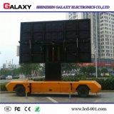 Fijo instalar la pantalla/la visualización publicitarias móviles al aire libre de los carros de P8 LED para el alquiler