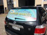 주문 접착성 비닐 하나 방법 비전 관통되는 차 창 스티커