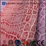 Exported Quality Fake Crocodile PU Microfiber Leather for Sofa Furniture Upholstery