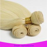 Белокурые прямые бразильские человеческие волосы Remy