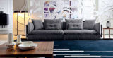 Sofá seccional de la tela moderna grande de la talla para la sala de estar (Ms1101)