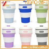 Copo de café Foldable do silicone do produto comestível 350ml do FDA para o curso (XY-SC-004)