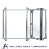 Portello di piegatura di alluminio comitati dei 8 - dei 2 comitati con colore