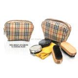 Recorrido negro de las herramientas del cuidado del zapato del cuero 6PCS kit determinado del brillo del zapato del pequeño cuidado del zapato