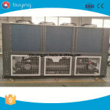 A máquina de refrigeração ar do refrigerador de água do parafuso do glicol do pó do suco com recicl o sistema