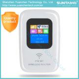 Mini roteador Mobile Modem 4G para o cartão SIM inserido reto 4G WiFi Router
