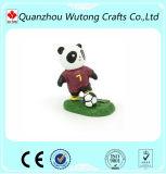 Décoration de déplacement de Tableau de postes de figurine de panda du football de résine