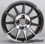 Колесо алюминиевого сплава автомобиля 15 дюймов черное с OEM & ODM