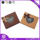 Rectángulo de empaquetado de papel de encargo del chocolate con la ventana plástica