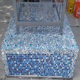 Mosaïque de verre bleu