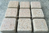 Flamed Tumbled Yellow Granite G682 Cobblestone e Cube