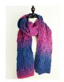 Шаблон скручивания женщин вязаные шарфы зимние Wrap шаль шаль (SK105)