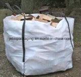 Grand sac de FIBC tissé par pp pour le bois de chauffage