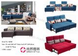 Justierbares Gegenständer drei Seater Sofa-Bett mit Schemel