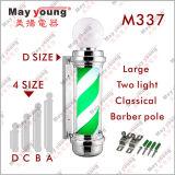 M337 Proporcionar profesional del salón de pelo de poste del peluquero Luz