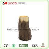 Polyresin屋内および屋外の装飾のための木製の流行のPolyresinの蝋燭ホールダー