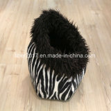 Haustier-Produktezebra-Muster-Hundewelpen-Katze-Form-Bett-Haus