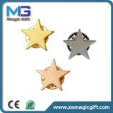 I commerci all'ingrosso hanno personalizzato il Pin di metallo in bianco della stella