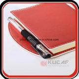 Diario de la escritura de la cubierta del cuero del regalo A5 del asunto con el Looper de la pluma de la pista