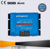 Contrôleur solaire intelligent de charge de la batterie du bleu MPPT150/70 de RoHS Fangpusun de la CE 70A 48V avec l'écran LCD