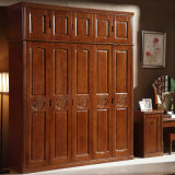 De goedkope Garderobe van de Slaapkamer van het Ontwerp van de Prijs Eenvoudige Stevige Houten (GSP9-018)