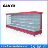 Vetrina del frigorifero della visualizzazione di Multideck delle mensole registrabili del supermercato