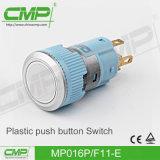 interruptor de pulsador plástico de la lámpara del anillo de 16m m