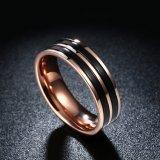 Anello semplice dell'acciaio inossidabile di colore dei monili di modo doppio per l'acciaio inossidabile Ring&#160 degli uomini;