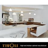 2017新しい方法アパート(AP095)のための具体的な灰色カラー台所家具