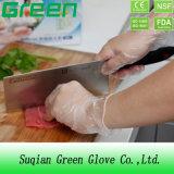 Los guantes del vinilo del alimento del uso de la familia con la categoría alimenticia para la ISO del Ce aprobaron