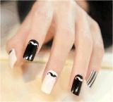 Стикер ногтя стикера искусствоа ногтя переноса воды Mustachee пера красотки