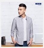 Camice casuali lunghe di affari della camicia del manicotto del cotone del vestito dagli uomini per gli uomini